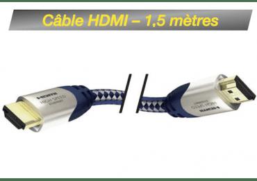 Câble HDMI M/M 1,5M - High Speed Premium Inakustik avec Ethernet Câble HDMI
