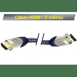 Câble HDMI M / HDMI M - 3 mètres Câble HDMI