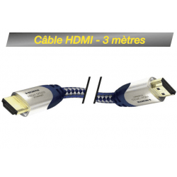 Câble HDMI M/M 3M - High Speed Premium Inakustik avec Ethernet Câble HDMI