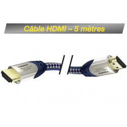 Câble HDMI M/M 5M - High Speed Premium Inakustik avec Ethernet Câble HDMI