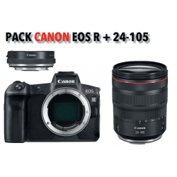 Canon kit EOS R compact hybride + RF 24-105 mm + bague d'adaptation