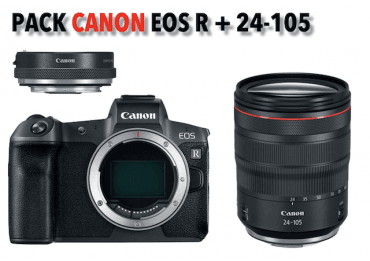 Canon kit EOS-R compact hybride + RF 24-105 mm + bague d'adaptation Pack Canon
