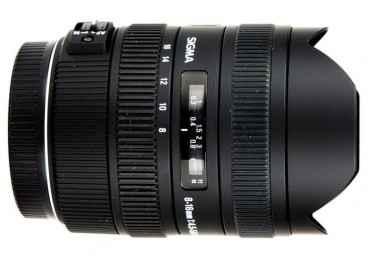Sigma 8-16 mm 4,5-5,6 DC HSM - Monture Nikon Grand-Angle - Objectif à monture Nikon F