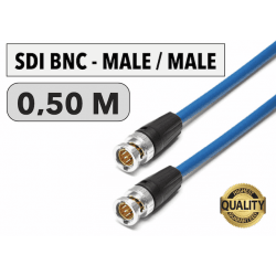 Cordon SDI BNC Male/Male de 0,50 M Câbles & Connexion