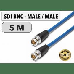 Cordon SDI BNC Male/Male de 5 M Câbles & Connexion