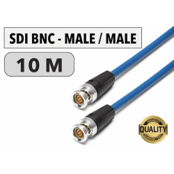 Cordon SDI BNC Male/Male de 10 M Câbles & Connexion