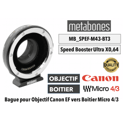 Bague Metabones Speed Booster Ultra 0,64x MB_SPEF-M43-BT3 Canon EF to MFT