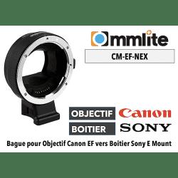 Bague Commlite CM-EF-NEX - Canon (EF) vers Sony (E) Boitier Sony (E)