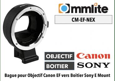 Bague Commlite CM-EF-NEX - Canon (EF) vers Sony (E)