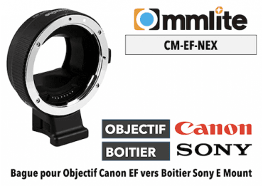 Bague Commlite CM-EF-NEX - Canon (EF) vers Sony (E) E-MOUNT - SONY