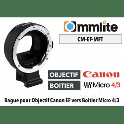 Bague Commlite CM-EF-MFT - Canon (EF) vers MFT Micro 4/3 Monture (MFT)