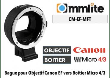Bague Commlite CM-EF-MFT - Canon (EF) vers MFT Micro 4/3 Micro 4/3 - PANASONIC