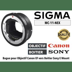 Bague Sigma MC11-EF-E - Canon (EF) vers Sony (E) Boitier Sony (E)