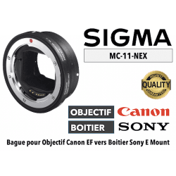 Bague Sigma MC11-EF-E - Canon (EF) vers Sony (E) Monture Sony (E)
