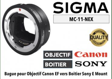 Bague Sigma MC11-EF-E - Canon (EF) vers Sony (E)
