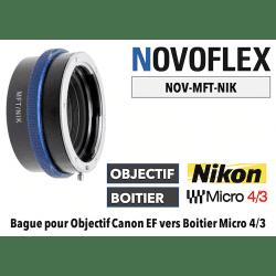 Bague Novoflex MFT-NIK Nikon F vers Micro 4/3 Boitier (MFT)