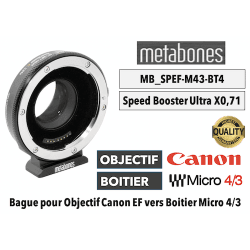 Bague Metabones Speed Booster Ultra 0,71x MB_SPEF-M43-BT4 Canon EF to MFT