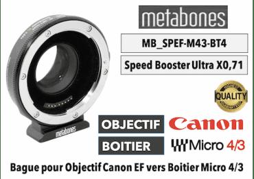 Metabones SB Ultra 0.71x (MB_SPEF-m43-BT4) Canon EF to MFT Monture (MFT)