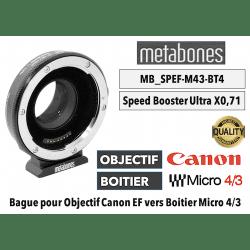 METABONES bague d'adaptation monture Canon EF pour monture BMCC micro 43 T - Speed Booster