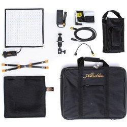 Aladdin - Kit 2X Bi-Flex (50W) 30x30cm + 2 batteries V-mount LED Bi-Color