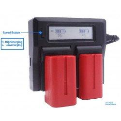Kit 2 Batteries NP-F750 + Chargeur - Baxxtar