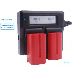 Kit 2X Batteries Sony NP-F750 + Chargeur double Batteire Sony