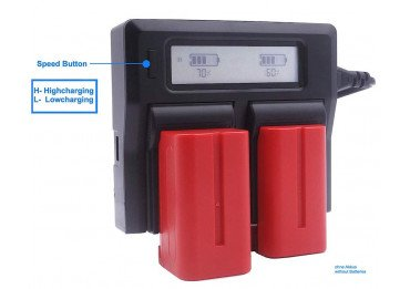 Kit 2 batteries NP-F750 + Chargeur
