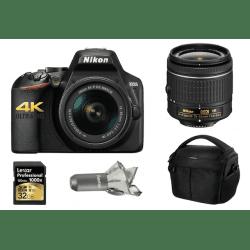 NiKON D3500 + Objectif 18-55 mm + Carte SD 16 Go + Sac photo