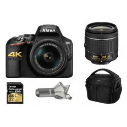 NiKON D3500 + Objectif 18-55 mm + Carte SD 32 Go + Sac photo