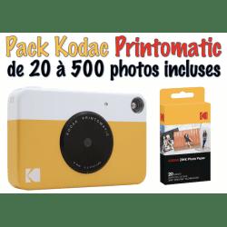 Kodak Printomatic Jaune Appareil Photo à Impression Instantanée Appareil photo instantané