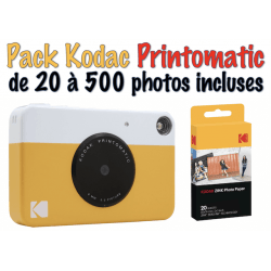Pack Kodac Pritomatique Jaune - Sans photo Appareil photo instantané