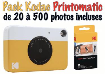 Pack Kodac Pritomatique Jaune - Sans photo Appareil photo instantané