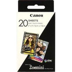 Papier photo Canon 20 feuilles ZINK pour Zoemini Canon