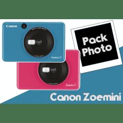 Appareil photo instantané Canon Zoemini C - Bleu Océan / Bubble Gum Appareil photo Instantané