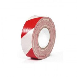 Warning Gaffer Blanc / Rouge - Tape 50mm x 50m Gaffers & Adhesifs