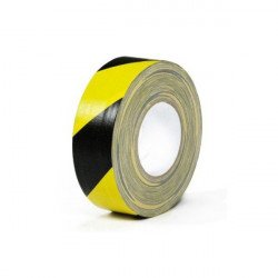 Gaffer Warning Noir / Jaune - 50mm x 50m Gaffers & Adhesifs